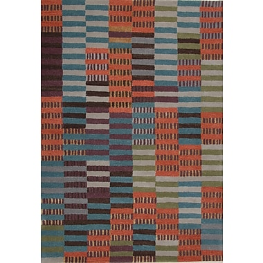 Dynamic Rugs Odyssey Multi Stripe Rug; Rectangle 6'7'' x 9'6''