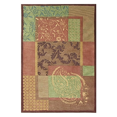 Dynamic Rugs Vision Red Multi Rug; Rectangle 5' x 8'