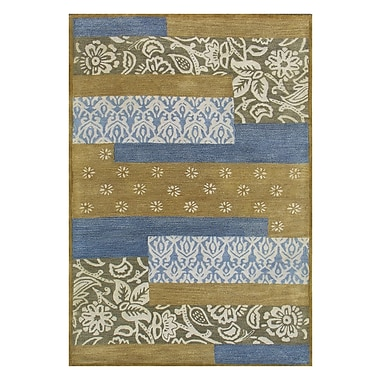 Dynamic Rugs Vision Mix Blue Striped Rug; Rectangle 8' x 11'