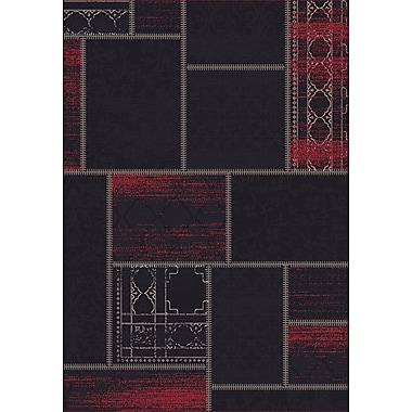 Dynamic Rugs Vintage Black/Red Rug; Rectangle 6'7'' x 9'6''