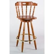 Alston Colonial 30'' Swivel Bar Sstool; Walnut
