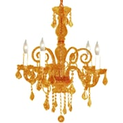Pangea Home Krystal 5-Light Crystal Chandelier; Amber