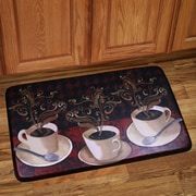 Sweet Home Collection Lotus Caf  Kitchen Mat