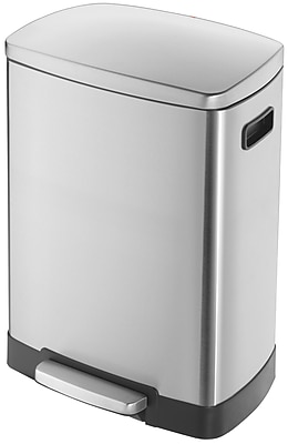 Hailo USA Inc. Stainless Steel 11.8 Gallon Step On Trash Can