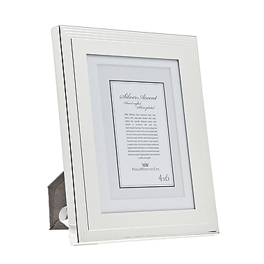 Philip Whitney Outer Lines Picture Frame; 5'' x 7'' Without Mat/4'' x 6'' With Mat