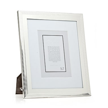 Philip Whitney Outer Lines Picture Frame; 8'' x 10'' Without Mat/5'' x 7'' With Mat