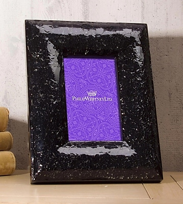 Philip Whitney Crackled Glass Picture Frame; 5'' x 7'' WYF078277890100
