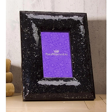 Philip Whitney Crackled Glass Picture Frame; 5'' x 7''