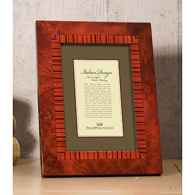 Philip Whitney Marquetry Inlay Picture Frame; 5'' x 7''