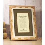 Philip Whitney Light Marquetry Inlay Picture Frame; 4'' x 6''
