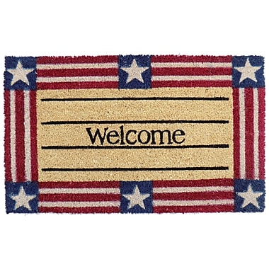 Imports Decor Welcome Star and Stripe Doormat