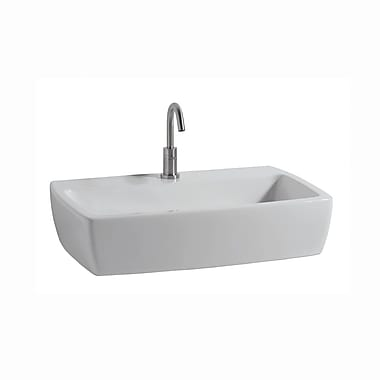 WS Bath Collections X-Tre Ceramic Ceramic Rectangular Vessel Bathroom Sink