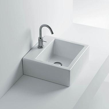 WS Bath Collections Quad Ceramic Rectangular Vessel Bathroom Sink