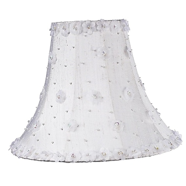 Jubilee Collection Petal Flower 16'' Silk Bell Lamp Shade