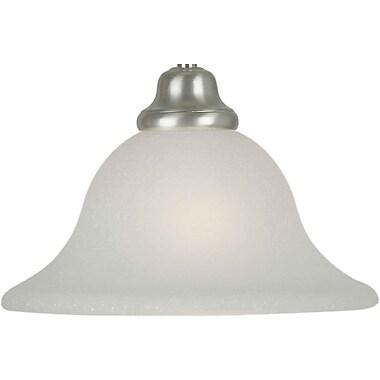 Forte Lighting 10'' Glass Bell Pendant Shade; Umber Mist