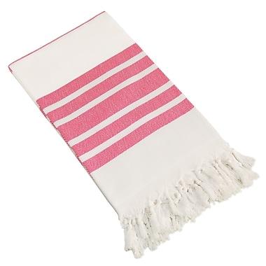 Linum Home Textiles Herringbone Pestemal Beach Towel; Pink