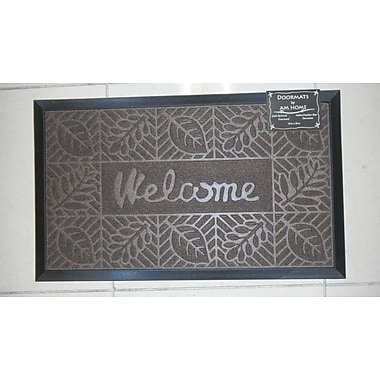 AM Home Textiles Welcome Doormat; Coffee