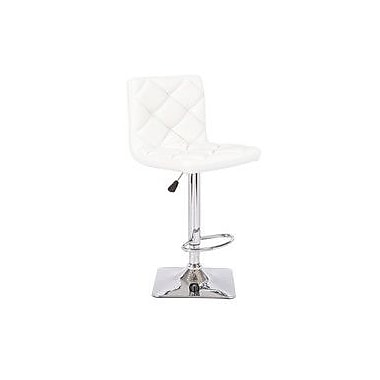 Container Adjustable Height Swivel Bar Stool (Set of 2); White