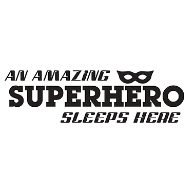 Dana Decals A Superhero Sleep Here Wall Decal