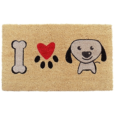 Imports Decor I Love Puppy Doormat