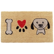 Imports Decor I Love Puppy Doormat