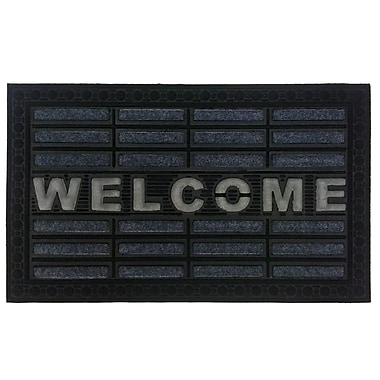 Imports Decor Welcome Doormat; Gray/White/Black