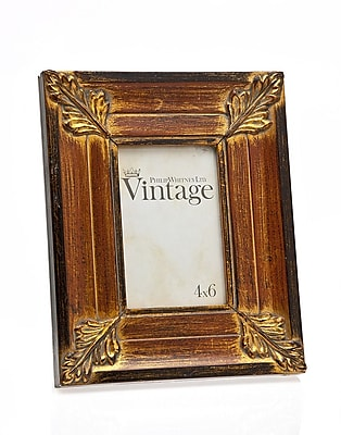 Philip Whitney Vintage Leaf Picture Frame WYF078277889994