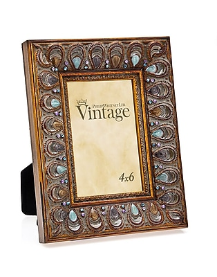 Philip Whitney Peacock Enamel Jewel Picture Frame