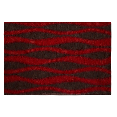 Dynamic Rugs Epic Red/Grey Rug; Rectangle 6'7'' x 9'6''