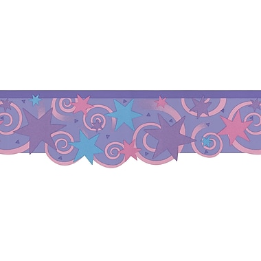 Brewster Home Fashions Kidding Around Stars and Swirl Wall Mural