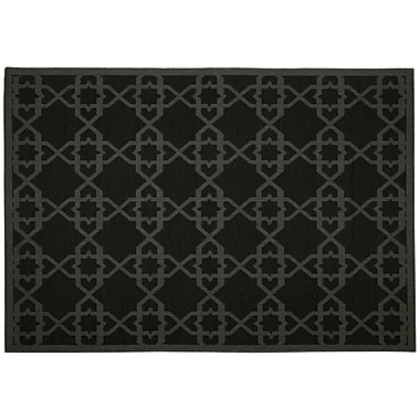 Pawleys Island Antebellum Black Geometric Indoor/Outdoor Area Rug; Rectangle 7' x 10'