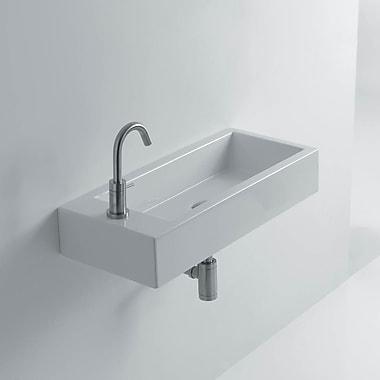 WS Bath Collections Hox Ceramic 19.7'' Wall mount Bathroom Sink