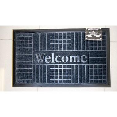 AM Home Textiles Block Welcome Doormat; Black