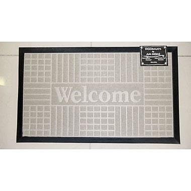 AM Home Textiles Block Welcome Doormat; Beige