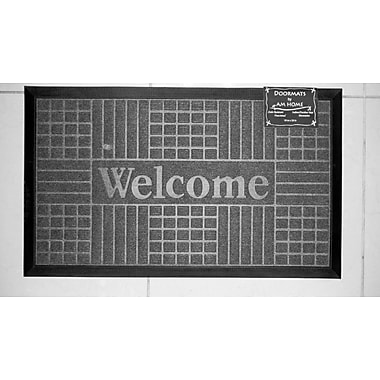 AM Home Textiles Block Welcome Doormat; Coffee