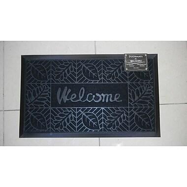 AM Home Textiles Welcome Doormat; Black