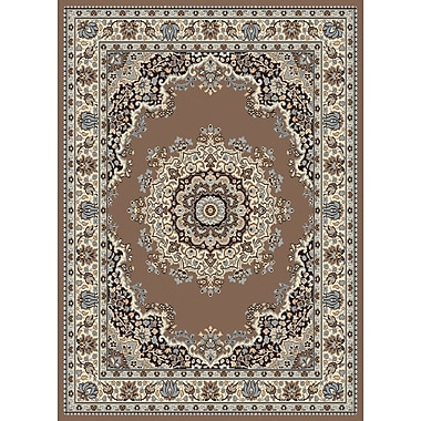 United Weavers of America Dallas Floral Kirman Ash Beige Area Rug; Rectangle 2'3'' x 7'2''