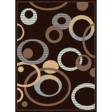 United Weavers of America Dallas Hip Hop Chocolate Area Rug; 7'10'' x 10'6''