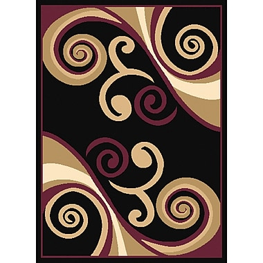 United Weavers of America Dallas Billow Tan/Burgundy Area Rug; 7'10'' x 10'6''