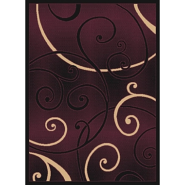 United Weavers of America Dallas Bangles Burgundy/Beige Area Rug; 2'3'' x 7'2''