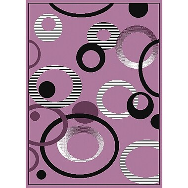 United Weavers of America Dallas Hip Hop Lilac Area Rug; 1'1'' x 3'3''