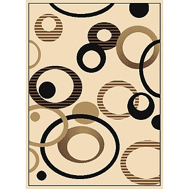 United Weavers of America Dallas Hip Hop Ivory Area Rug; 5'3'' x 7'2''