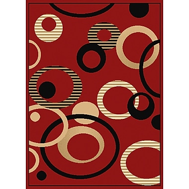 United Weavers of America Dallas Hip Hop Red/Black Area Rug; 2'3'' x 7'2''