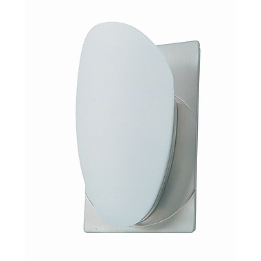 DVI Shield 1-Light Wall Sconce in Satin Nickel