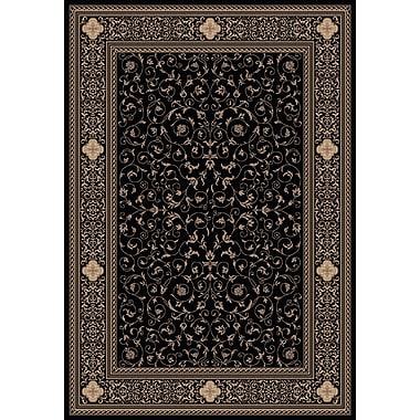 Dynamic Rugs Ancient Garden 6563 Black Oriental Rug; Rectangle 9'2'' x 12'10''