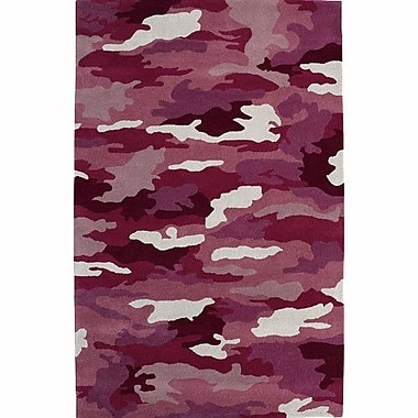 Dynamic Rugs Fantasia Cool Girlzz 1709-200 Pink Army Wool Rug; Rectangle 5' x 8'
