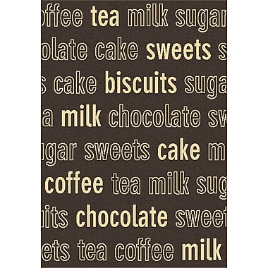 Dynamic Rugs Trend Chocolate Novelty Rug; 6'7'' x 9'6''