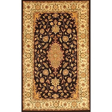 MOTI Rugs Lesnoy Black Rug; Rectangle 5' x 8'