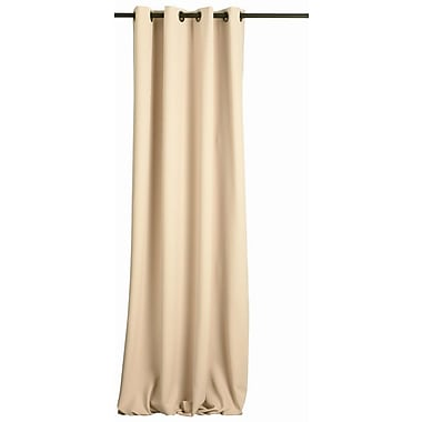FlagHouse Solid Blackout Grommet Single Curtain Panel