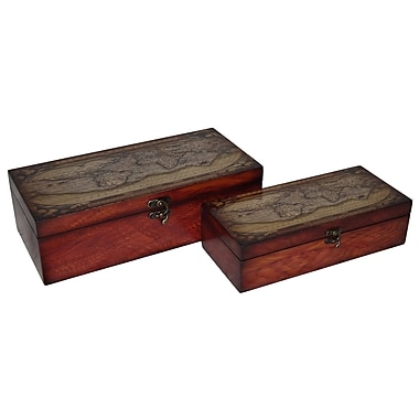 Cheungs 2 Piece Wooden Box Set
